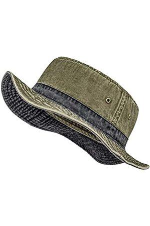 VOBOOM Panama-Hut für Herren, gewaschene Baumwolle, verstaubar, für Sommer, Reisen, Angeln