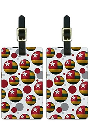 Graphics and More Graphics & More Futbol Fußball Country Z-Togo Flagge Fußball - Luggage.Tags.09828