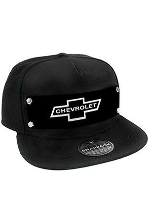 Buckle-Down Herren Snapback Hat-1965 Chevrolet Bowtie Black/White Mütze