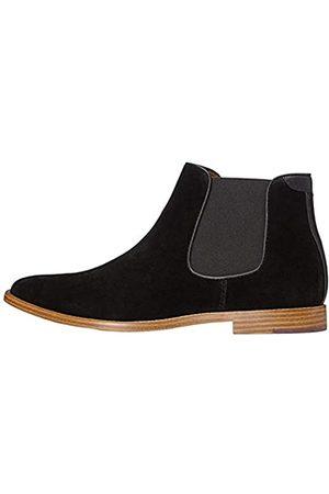 FIND Albert Suede-Look Chelsea Boots, (Black)
