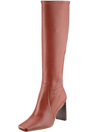 HUGO BOSS Damen Alek STR.Long B85-NC Kniehohe Stiefel, Rust/Copper224
