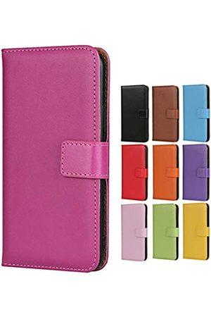 Jaorty Schutzhülle für Huawei P10 Lite, echtes Premium-Leder, Brieftaschen-Design, mit Ständer-Funktion