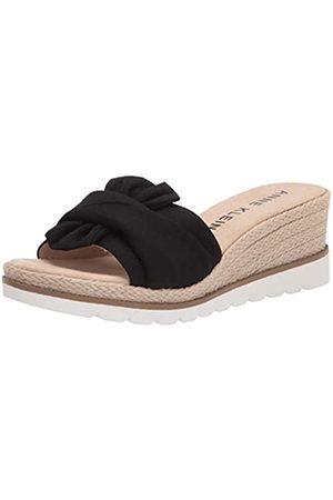 Anne Klein Women's Hilaria Wedge Sandal, Black