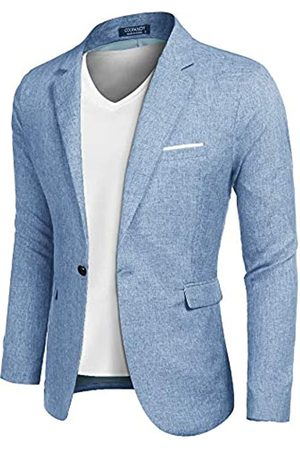 COOFANDY Herren Casual Anzug Blazer Jacken Leichte Sportmäntel One Button - - Medium Mehr