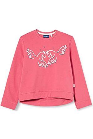 Sanetta Mädchen Rusty red Pinkes Sweatshirt mit niedlichem Flying Pegasus-Print Kidswear