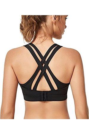 Yvette Ries Damen High Impact Sport-BHs Criss Cross Back Sexy Lauf-BH für Übergrößen - - Medium