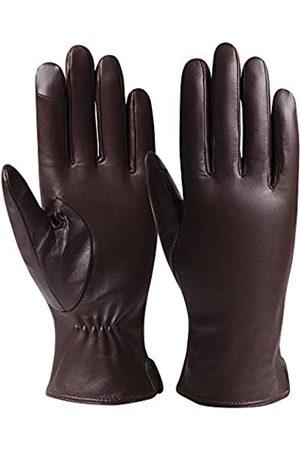 T-GOTING Damen Lederhandschuhe Winter Fahren Touchscreen Texting Handschuhe - - Medium