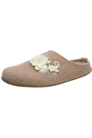 Living Kitzbühel Damen Pantoffel Hirsch Hochzeit mit Fußbett Pantoffeln, Pink (Woodrose 0334)
