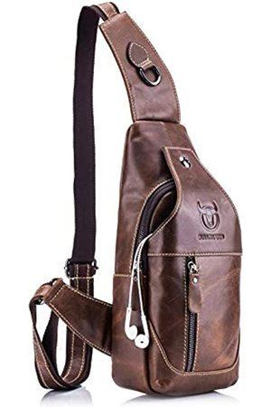 GOODTAKE Good Take Umhängetasche aus echtem Leder, für Herren, Kuriertasche, Brusttasche, Brusttasche