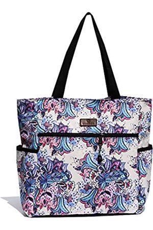 VAVAER Große Strandtasche für Damen, wasserdicht, leicht, mit Reißverschluss, Mehrere (blume)