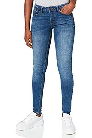 Springfield Jeans Slim Algodón Reciclado Lavado Sostenible Pantalones, Azul Medio