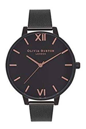 Olivia Burton Damen Analog Quarz Armbanduhr mit Edelstahlarmband