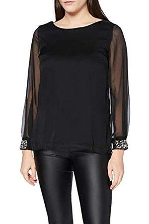 Mela Damen London-Beaded Cuff Chiffon Blouse TOP T-Shirt