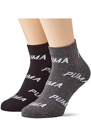 PUMA Unisex-Adult BWT Quarter (2 Pack) Socks, Black/White