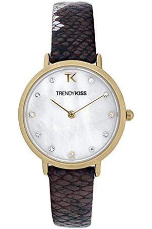 Trendy Kiss Damen Analog Quarz Uhr mit Leder Armband TG10133-01
