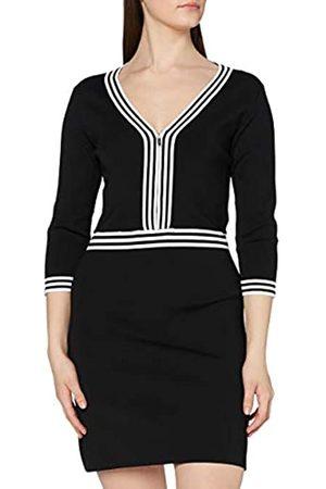 Morgan Damen Robe Tricot col V RMFATA Freizeitkleid, /Off-White