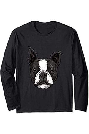 Wowsome! Boston Terrier Dog Shirt Cute Dog Breed Lover Men Women Langarmshirt