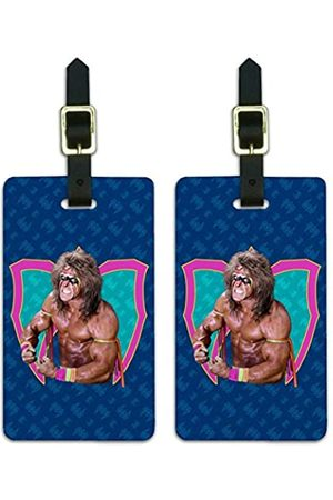Graphics and More WWE Ultimate Warrior Flex Gepäckanhänger Koffer Handgepäck Karten – Set von 2