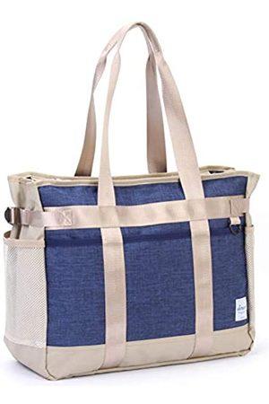 JEREVER Tragetasche für Lehrer, mit mehreren Fächern, leicht, Organizer-Handtasche für Krankenschwestern und Fußballmütter, ( /Marineblau)