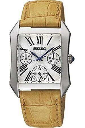 Seiko Damen-Armbanduhr XS Analog Quarz Leder SKY737P2