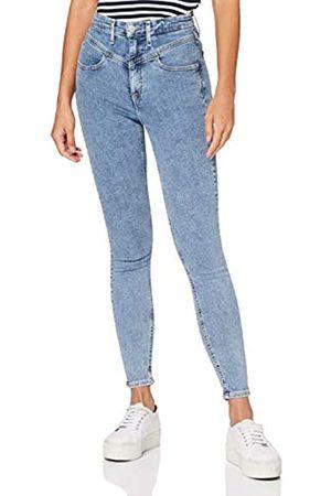 Calvin Klein Damen High Rise Super Skinny Ankle Hose