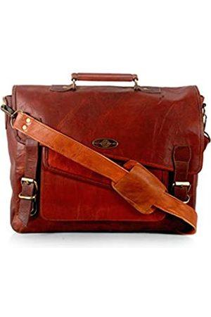 Generic Creative Art and Craft Office Laptop Leder Executive formelle Laptop Aktentasche Messenger Bag für Männer Frauen mit mehreren Fächern