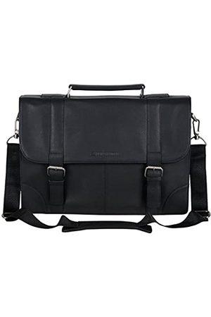 "Ben Sherman Unisex-Erwachsene Leather Double Compartment Flapover 15"" Computer Case Business Portfolio Laptop-Tasche"