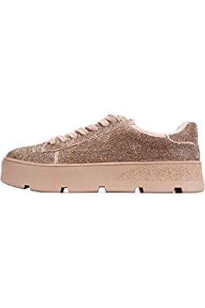 Cape Robbin Euro Plateau Sneaker für Damen, Mode Flatform Sneaker Schuhe für Frauen mit Faux Strass, Pink (rose )