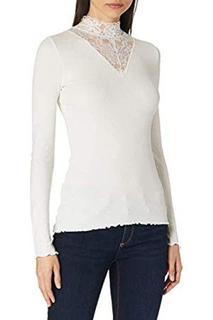 TOM TAILOR Damen Materialmix T-Shirt, 10332-Off White