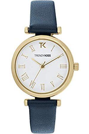 Trendy Kiss Damen Analog Quarz Uhr mit Leder Armband TG10134-01