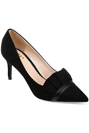 Journee Collection Damen Rüschen, spitz zulaufender Zehenbereich, Skinny Heels