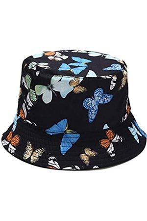 UTOWO Fischerhut mit Schmetterlingsmuster, unisex, für den Sommer, niedlich, einzigartiger Druck