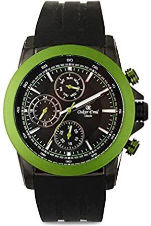 Oskar Emil Sports Herren Chronograph Quarz Uhr mit Silikon Armband Winston Green