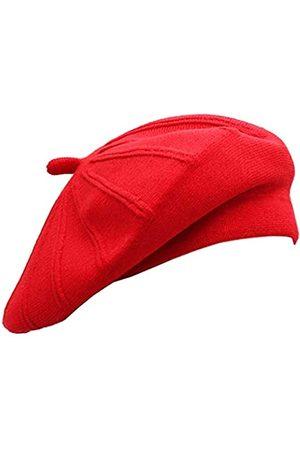 Wheebo Französische Baskenmütze, wendbar, einfarbig, Kaschmir-Mütze für Damen, Mädchen, Damen