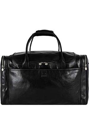 Time Resistance Groß Leder Weekender Reisegepäck Reisetasche Duffle Bag Handgepäck Tasche Leather Wasserdicht für Herren Damen