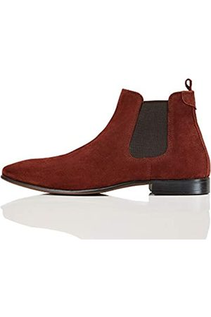 FIND Albany Suede Chelsea Boots, (Burgundy)