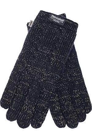 EEM Fashion EEM Damen Strick Handschuhe FREYA mit Thinsulate Thermofutter aus Polyester und Zopfmuster, Strickmaterial aus 100% Wolle; /