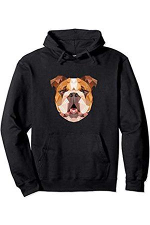 Wowsome! Cute Polygonal English Bulldog Dog Lover Gifts Men Women Pullover Hoodie