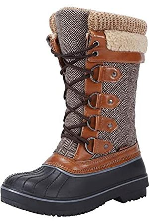FANTURE Damen Wasserdicht Winter Schneestiefel Kniehohe Schuhe, ( 2)