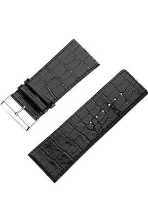 Pure Grey Uhrenarmband Kalbleder Louisiana-Struktur Bandbreite 36mm