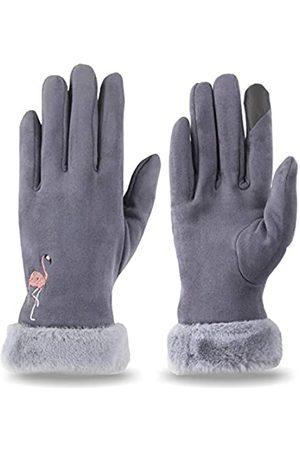 Muryobao Warme Touchscreen-Handschuhe für Damen, Thermo-Futter, elastische Bündchen