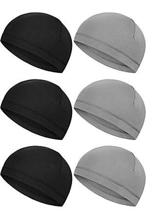 Boao 6 Stück Helm-Innenkappen, Schweißableitende Kappen, Laufmützen, Radsport, Schädelmützen für Damen und Herren (