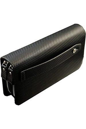 Coolstar Lange Geldbörse für Herren, mit Schnalle, Business, Clutch, Handtasche mit Reißverschluss, Kartenetui, Bargeldscheckhalter, doppelschichtiges Leder