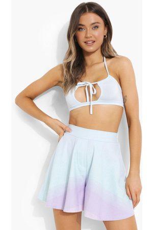 boohoo Womens Ombre-Shorts Im Leinen-Look - - 34