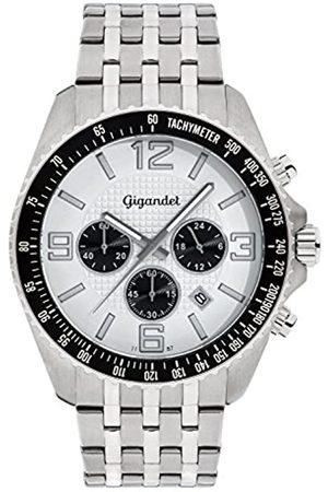 Gigandet Herrenuhr Chronograph Quarz Analog mit Edelstahlarmband Fast Track G12-004