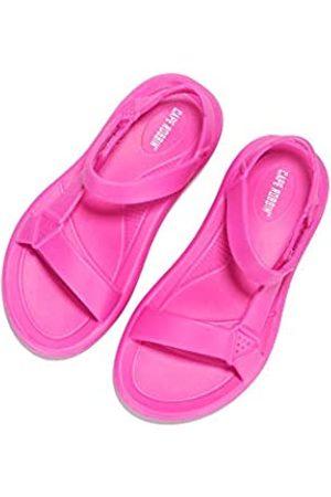 Cape Robbin Zire Sandalen für Damen, Pantoletten, Schlupfschuhe, Pink (fuchsia)