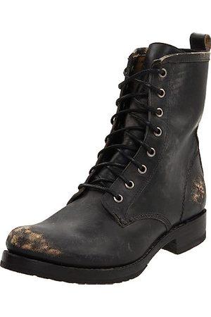 Frye Damen Veronica Combat Springerstiefel, Black Stone Washed-76272