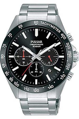 Pulsar Herren Analog Quarz Uhr mit Metall Armband PT3A77X1