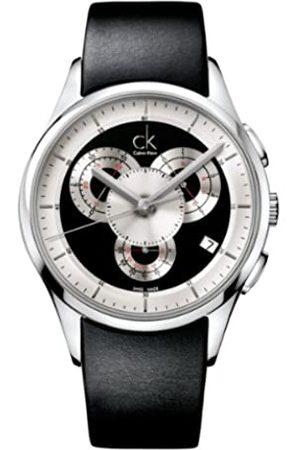 Calvin Klein Herren-Armbanduhr XL Basic Chrono Chronograph Leder K2A27102