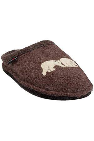 Haflinger Unisex-Erwachsene Flair Osopolare Pantoffeln (Braunmeliert 63) 42 EU